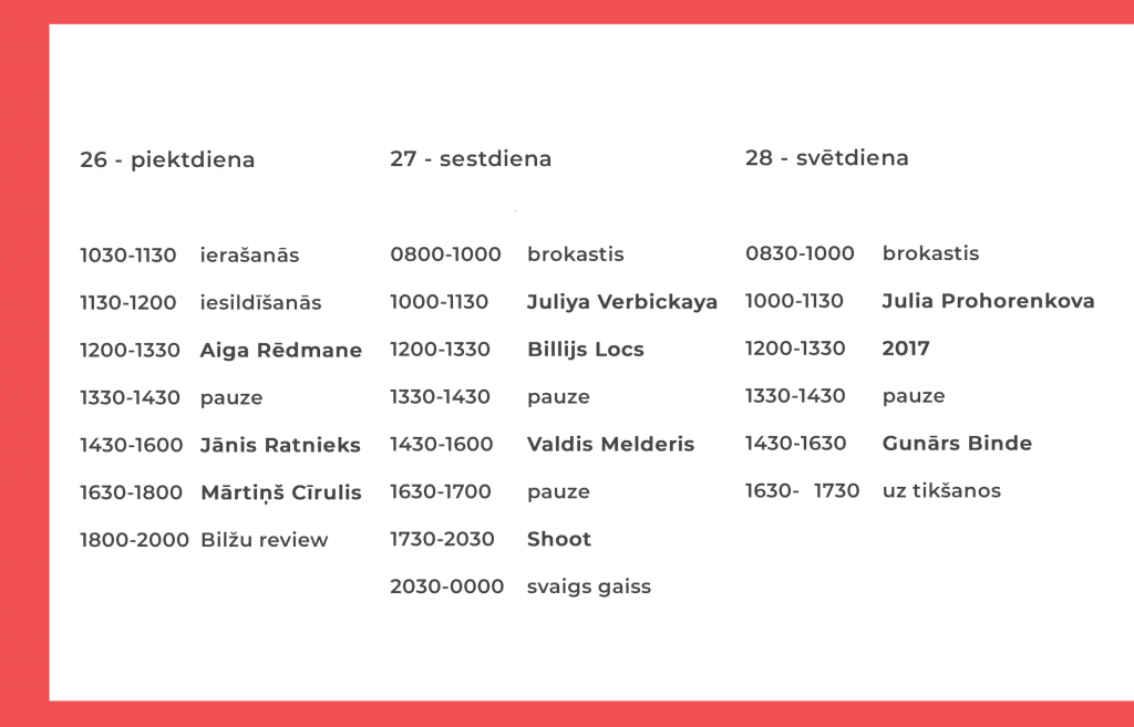 white workshop 2019 programma